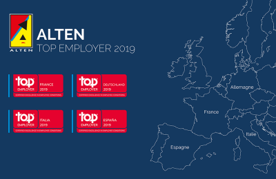 ALTEN, labellisé Top Employer France et dans 3 autres pays d'Europe