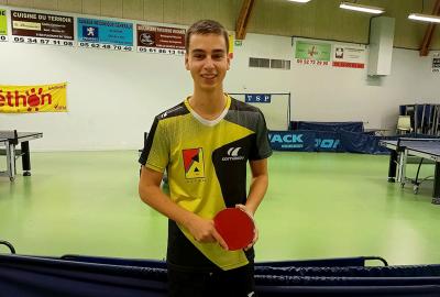 Lucas Didier, un jeune pongiste handisport très prometteur